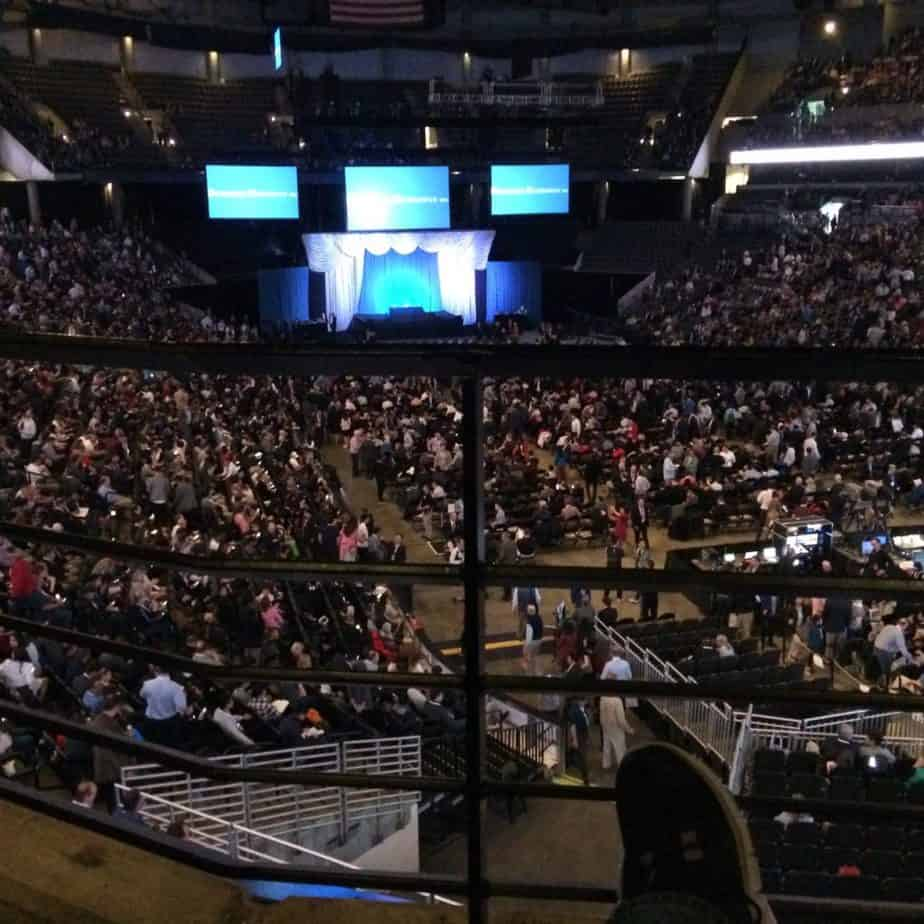 Overlooking the stage for Buffett and Munger