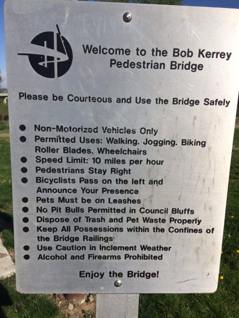 Bob Kerrey Pedestrian Bridge Rules