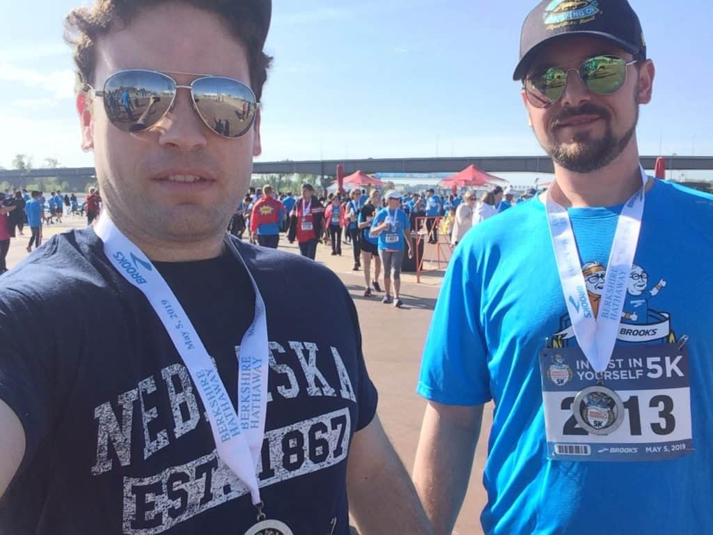Rick and Ryan at the Berkshire Hathaway 5km Race
