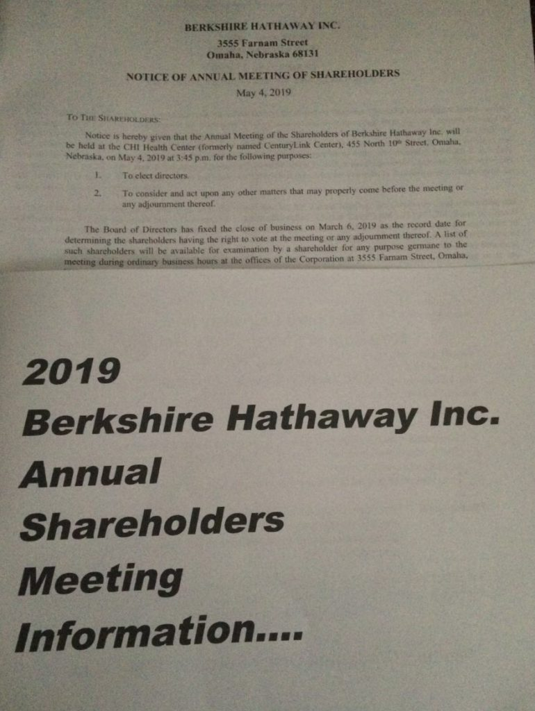 Berkshire Hathaway Annual Meeting Notice