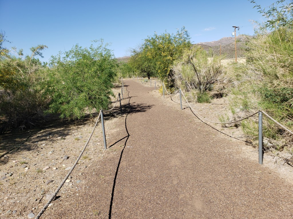 Trail is clear for walkers.