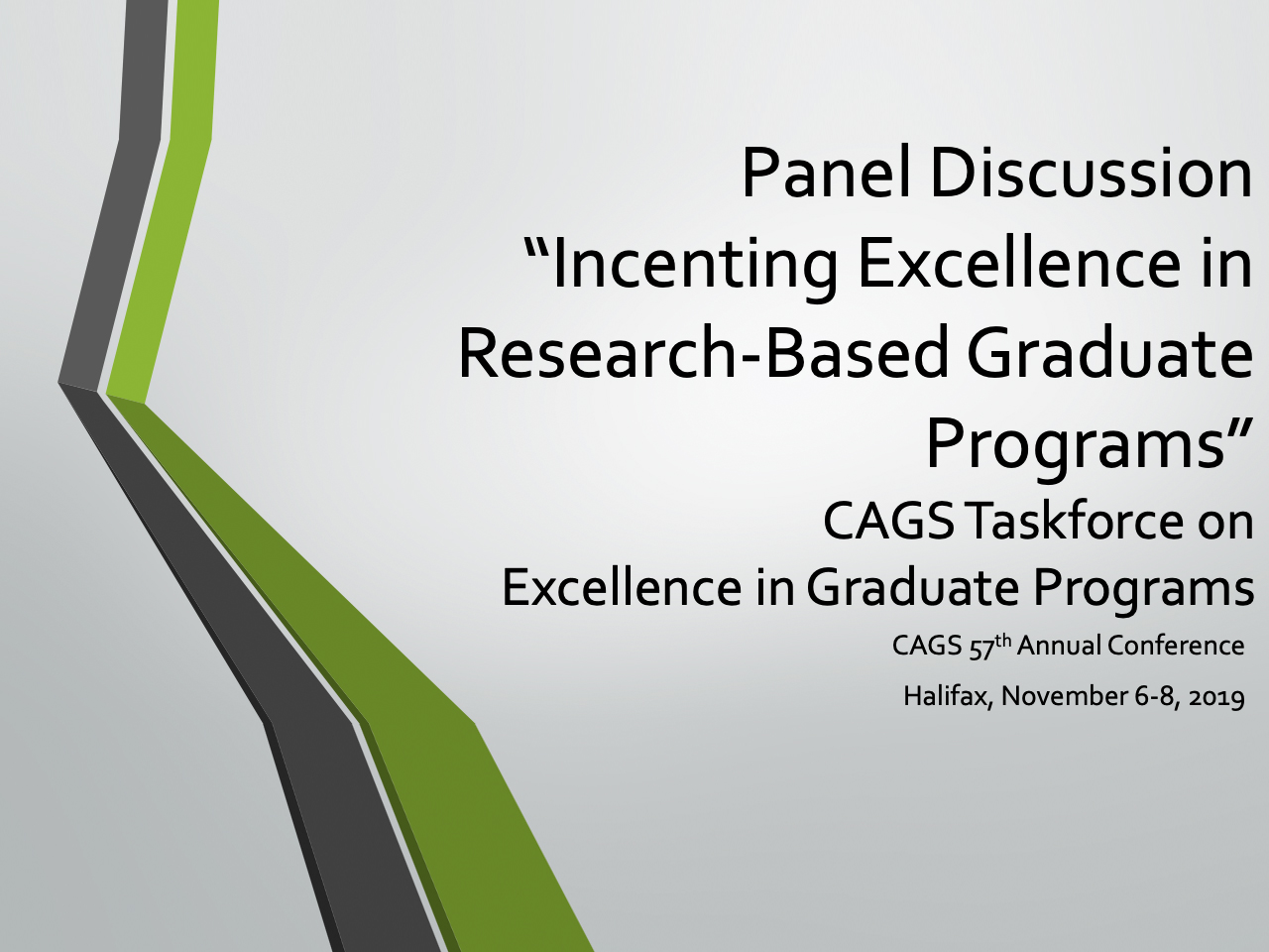 CAGS Taskforce on Excellence in Graduate Programs