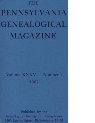 PGM Volume 35 No 1 – Cover and TOC