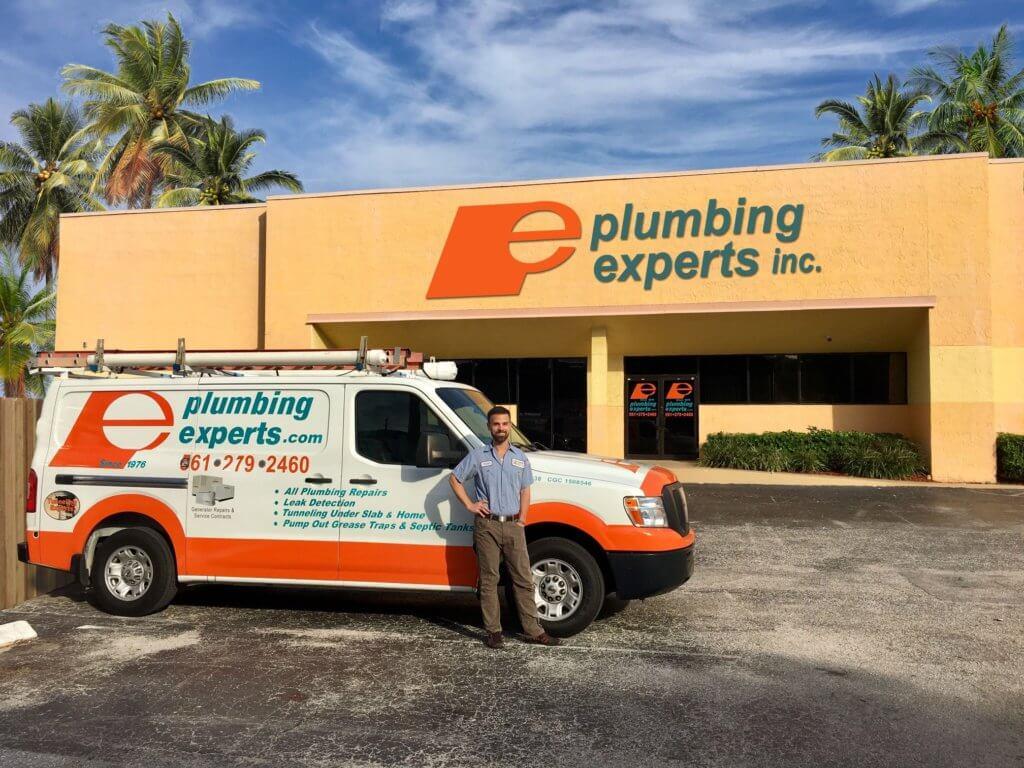 Bathroom plumber repair truck