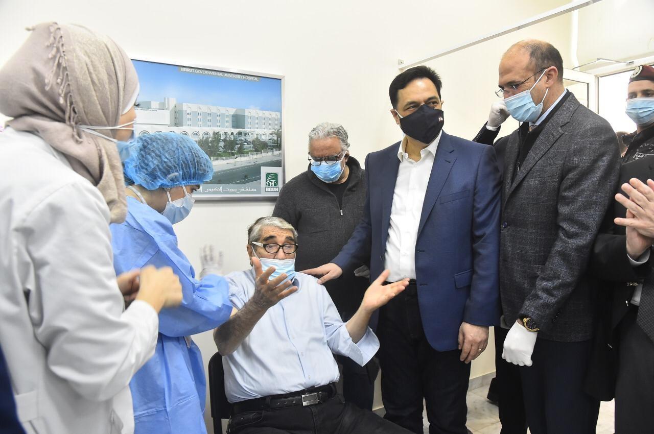 إطلاق حملة اللقيح الوطنية لمكافحة وباء كورونا في لبنان