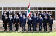 الجلسة الأولى للحكومة الجديدة في قصر بعبدا برئاسة الرئيس عون وتشكيل لجنة صياغة البيان الوزاري