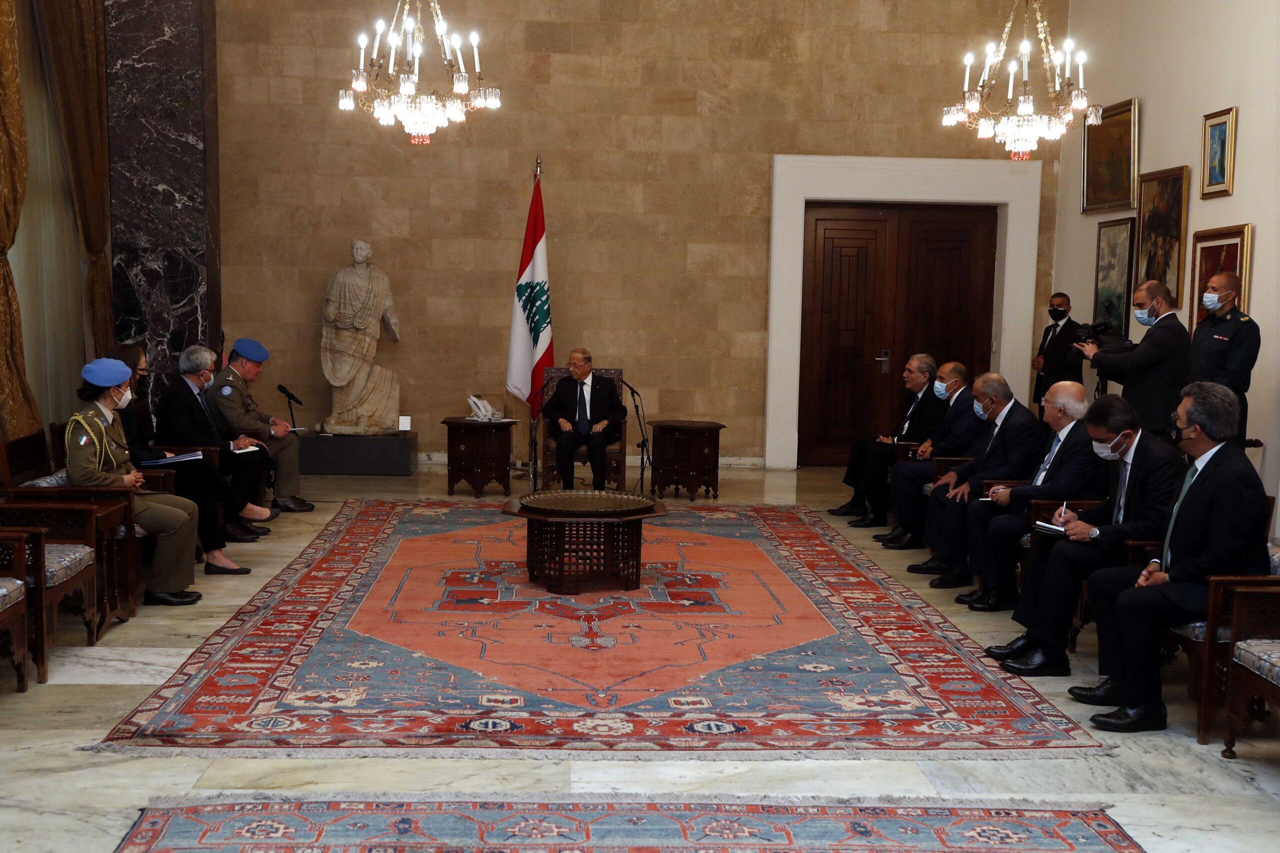 عون شكر قائد اليونيفيل على دعم مجلس الامن الدولي للجيش اللبناني والتمديد لقوات حفظ السلام