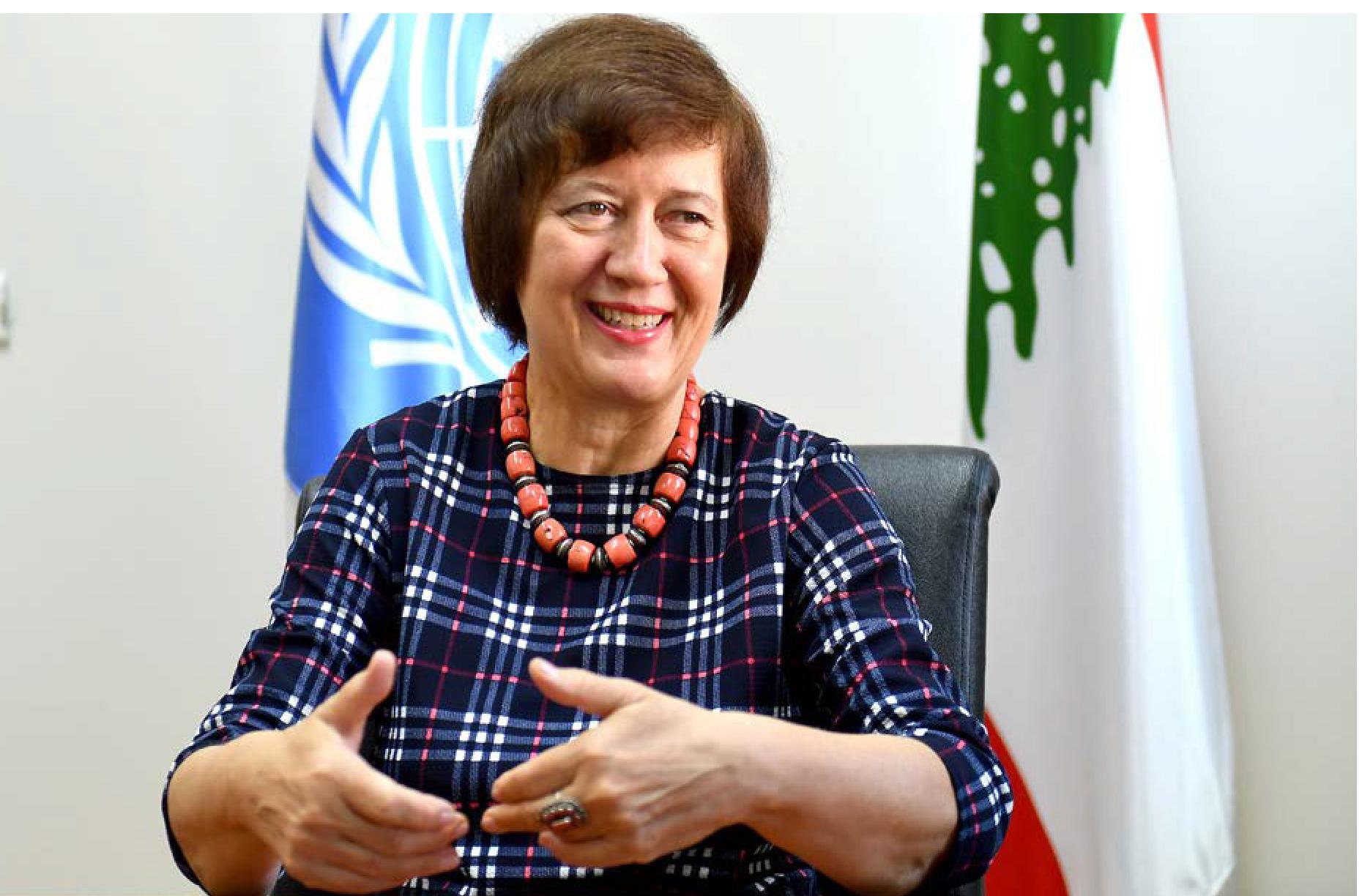 المنسقة الخاصة للأمم المتحدة يوانا فرونتسكا: يمكن الحكومة  أن تفرمل المسار الإنحداري بخطوات فورية