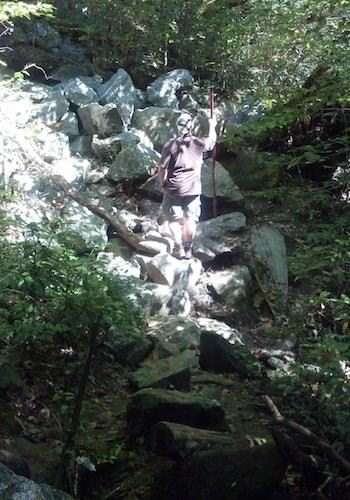 Crossing Boulder Field - Little Bradley Falls Hike