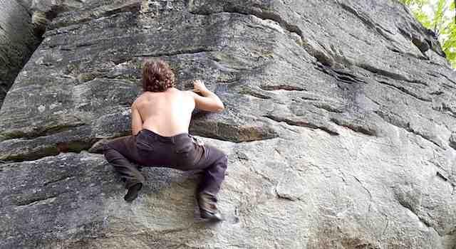 Hiking Chimney Rock Climbing Park