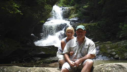 Lisa and Mike at Little Bradley Falls