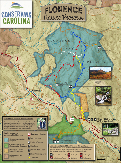 Florence Nature Preserve map