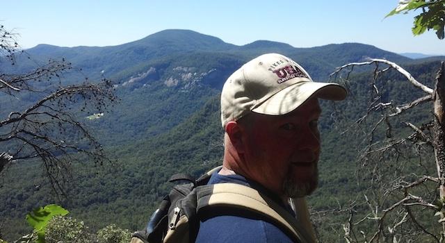 Mike Hiking the Peaks