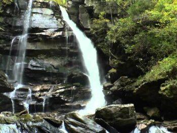 Big Bradley Falls Saluda, NC