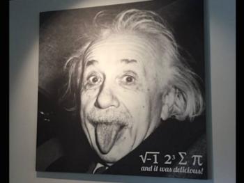 Pi-Squared Pizza Einstein pi