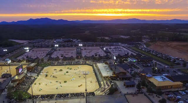 Sunset at Tryon Equestrian Center