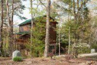 Log Home on River & Mountain Views
