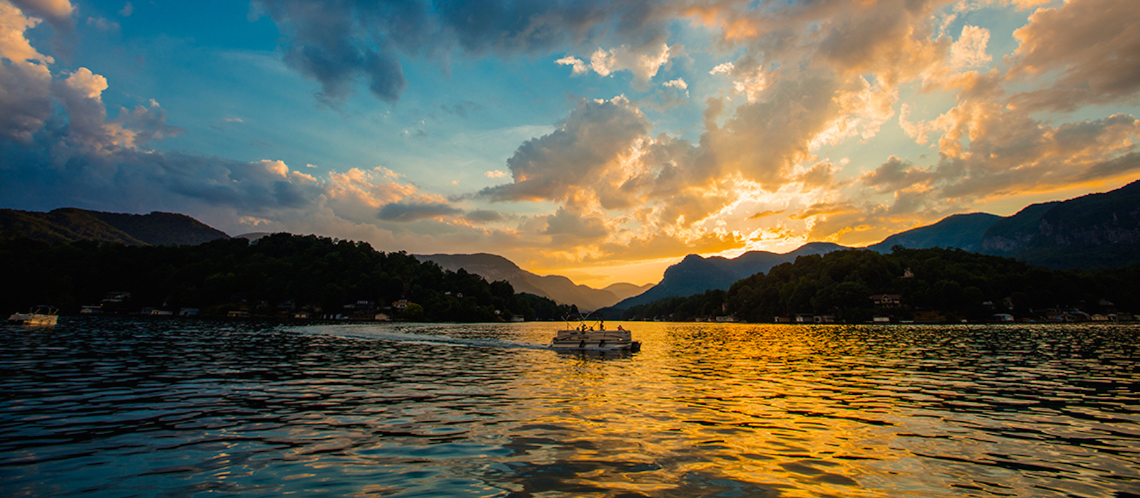 Lake Lure, NC Sunset on the Lake - Around Lake Lure