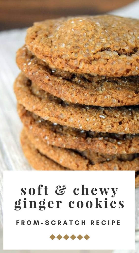 Chewy Triple Ginger Cookies - Pin 2