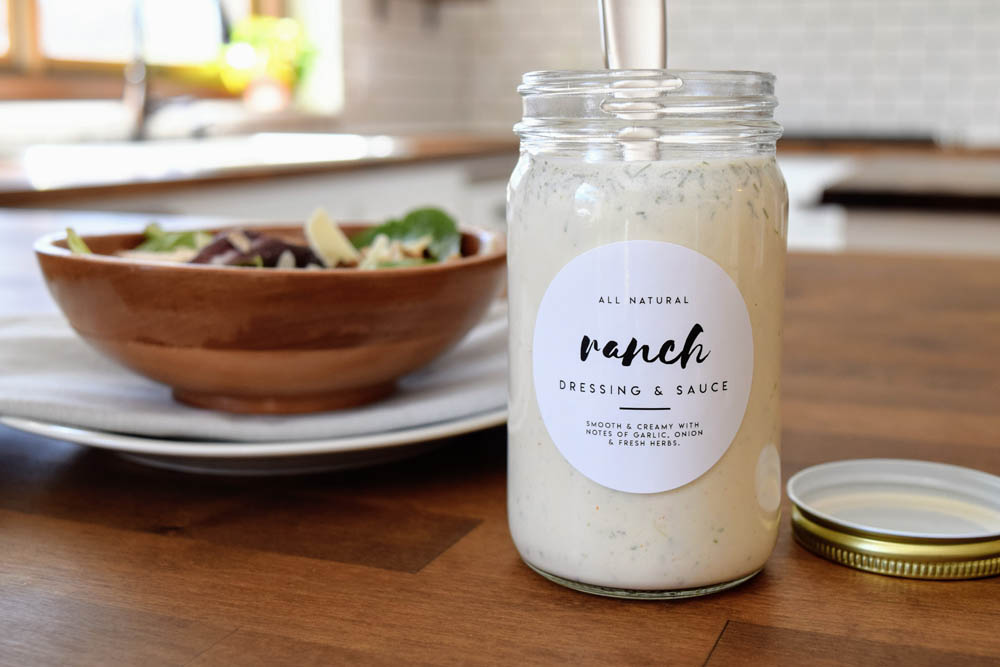 Ranch Dressing Two Ways: Creamy Keto and Dairy-Free… Plus Printable Labels