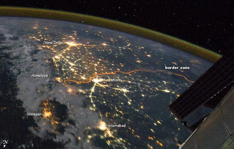 Pak-India border seen from space