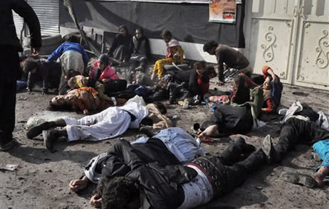 Victims of LeJ bombing in Kabul