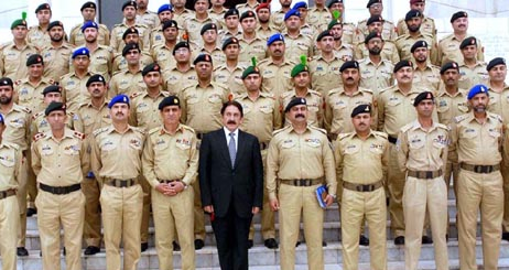 Justice iftikhar Chaudhry with Military