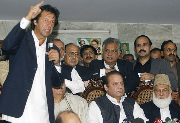 Imran Khan yelling over everyone