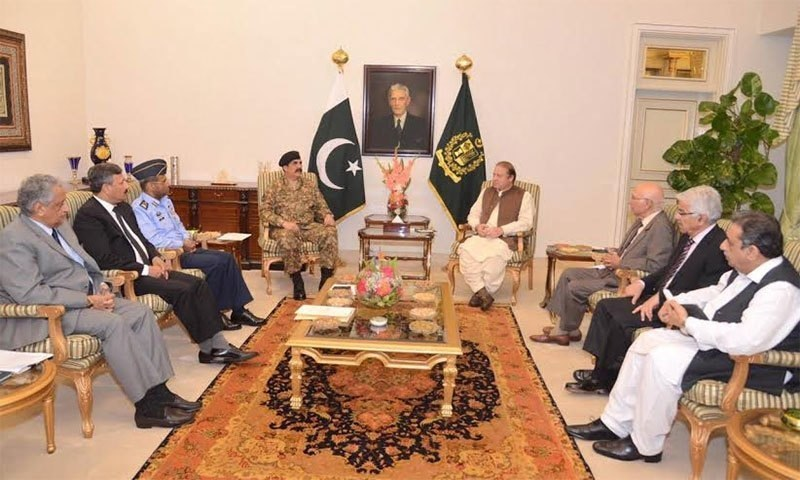 high-level meeting at the PM House to discuss recent developments in the Middle East and to examine Saudi Arabia's request