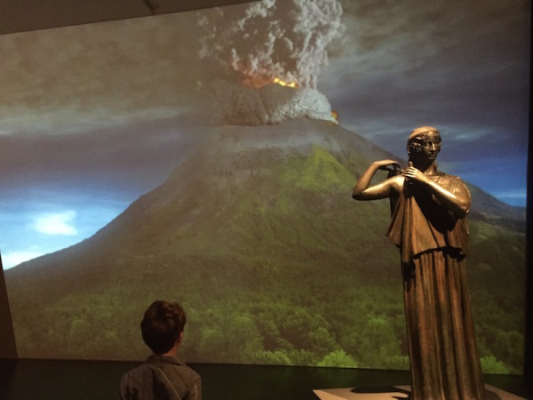 A video reenactment of the explosion Pompeii