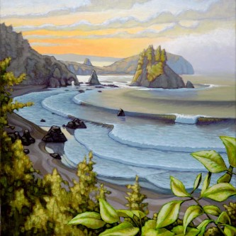 """Sunrise Over the Cove"""