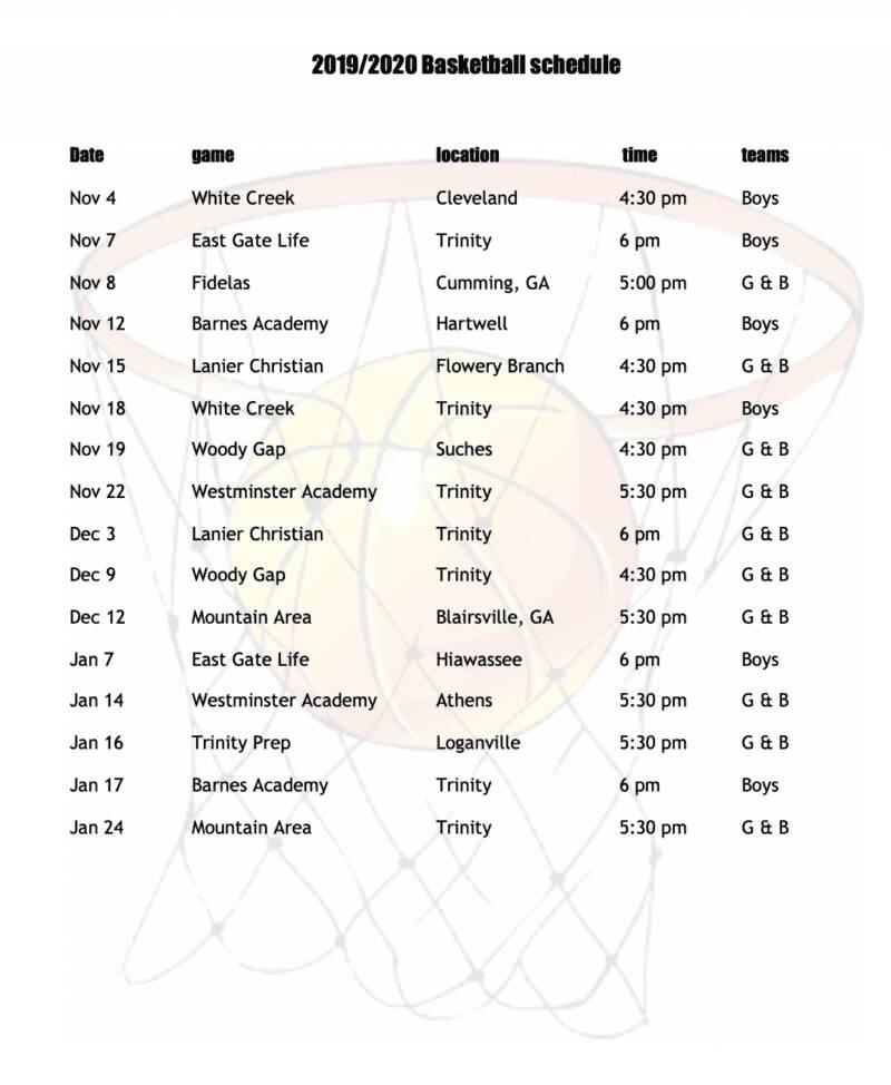 basketball schedule 2019-2020