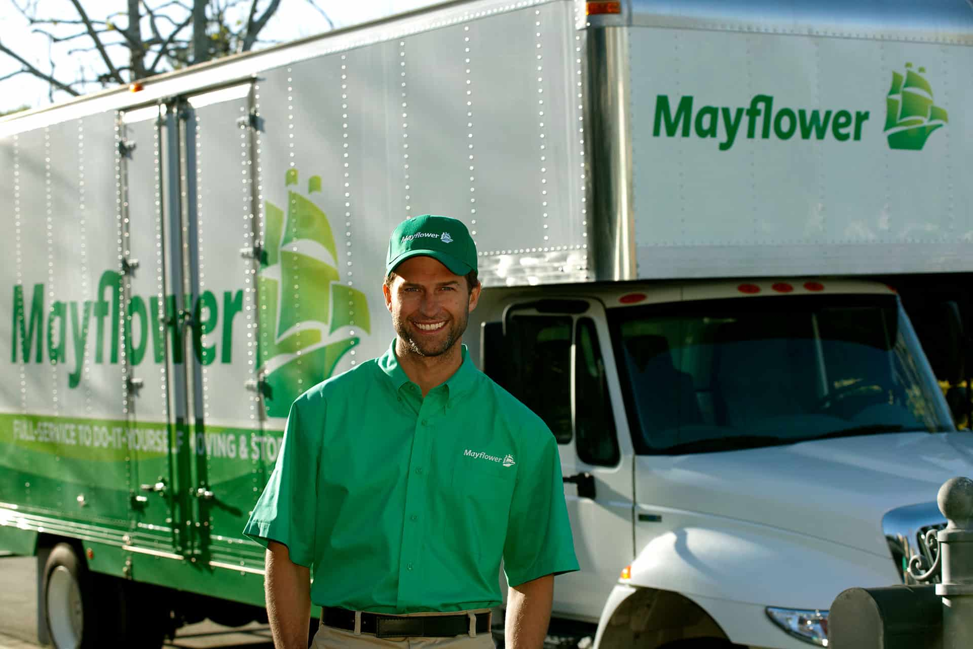 mover in front of truck
