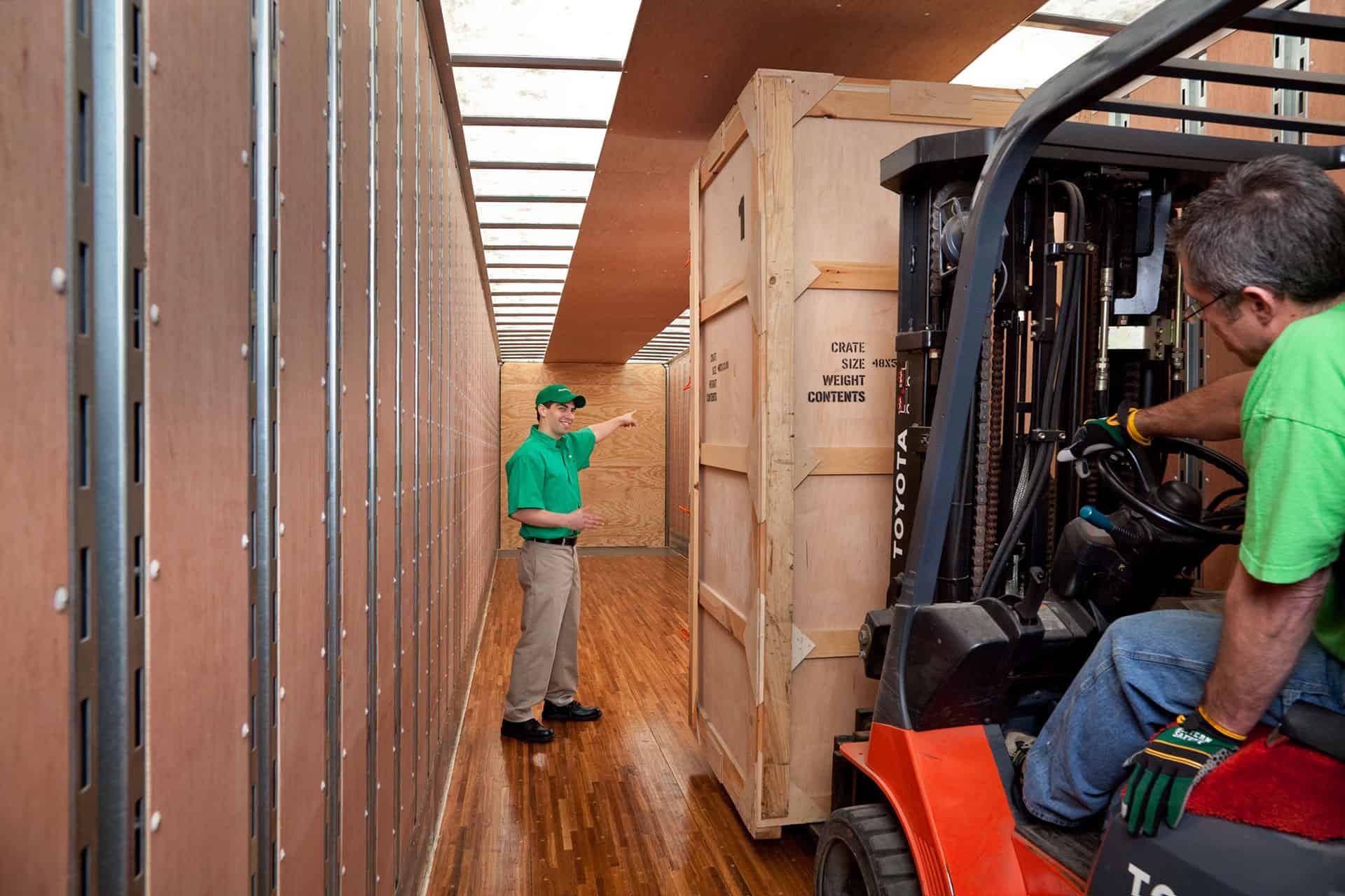 loading moving van