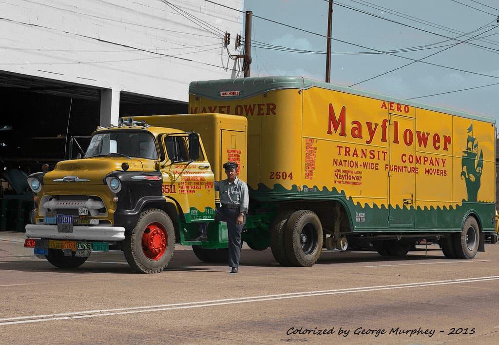 old mayflower truck