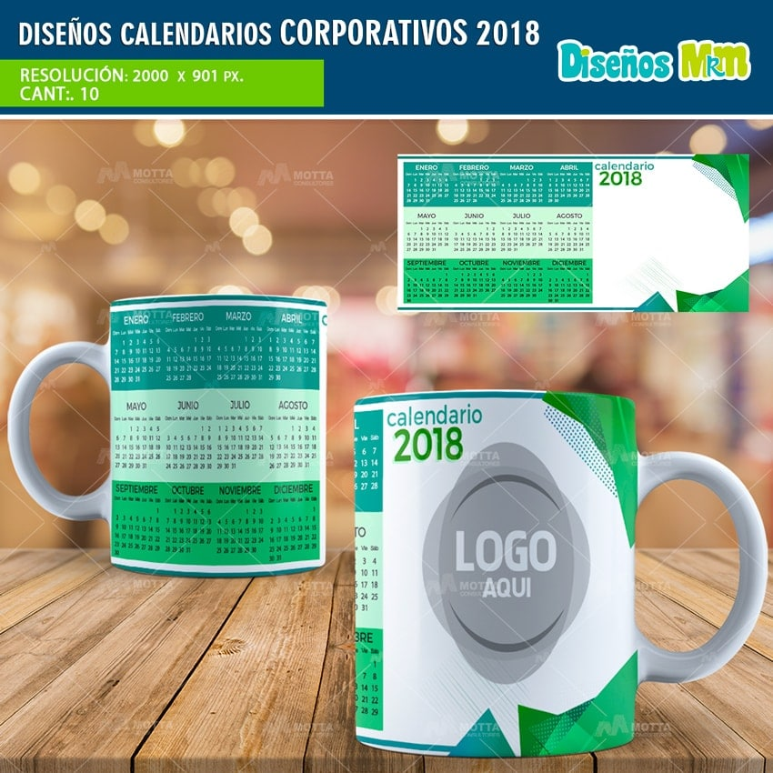 PLANTILLAS TAZA CALENDARIOS CORPORATIVOS