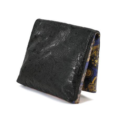 The Seeker Black Embossed Paisley Leather