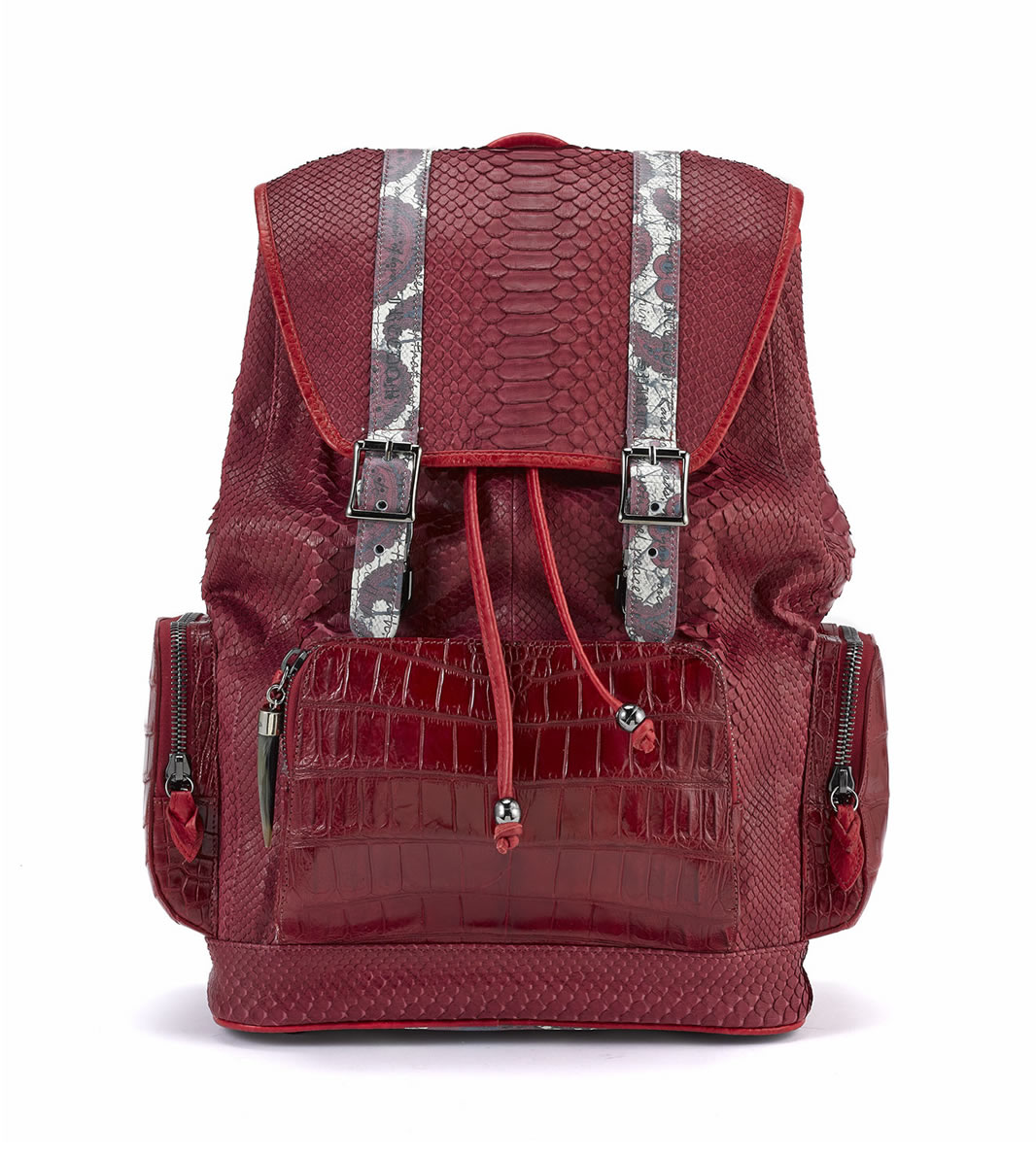 Sports BACKPACK-brown-red-python