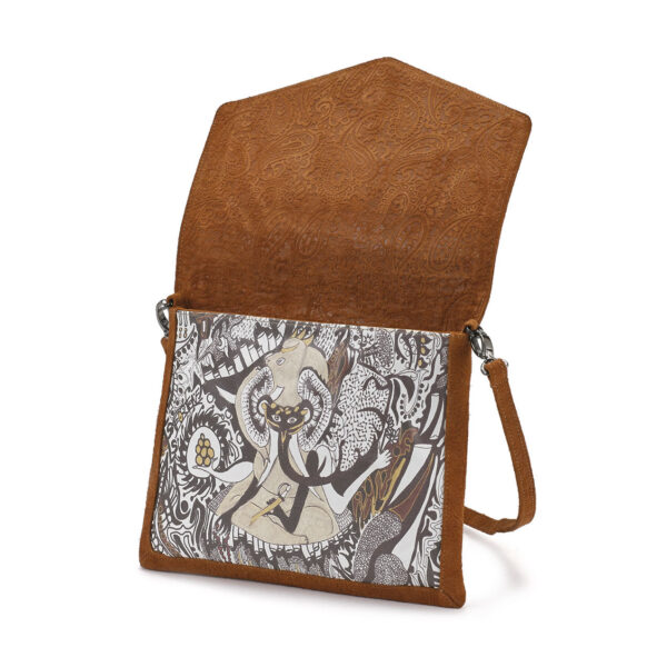 Cross body golden brown Ganesh 2