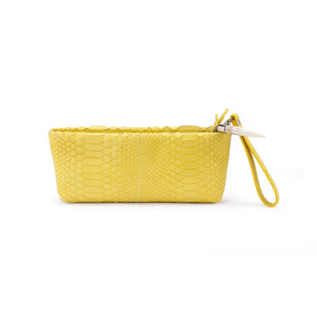 Mini Python Clutch Yellow