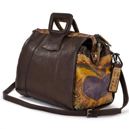 Love & Hope Embossed Paisley Leather