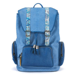 Miracles Blue Python with Leather Pockets