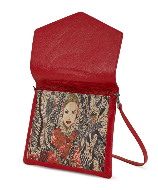 CROSSBODY RED EMBOSSED LADY B 2