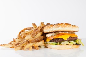 Classic Cheese Burger and Fries