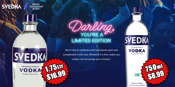 Svedka Vodka - June's Featured Spirit of the Month at S&V Liquors