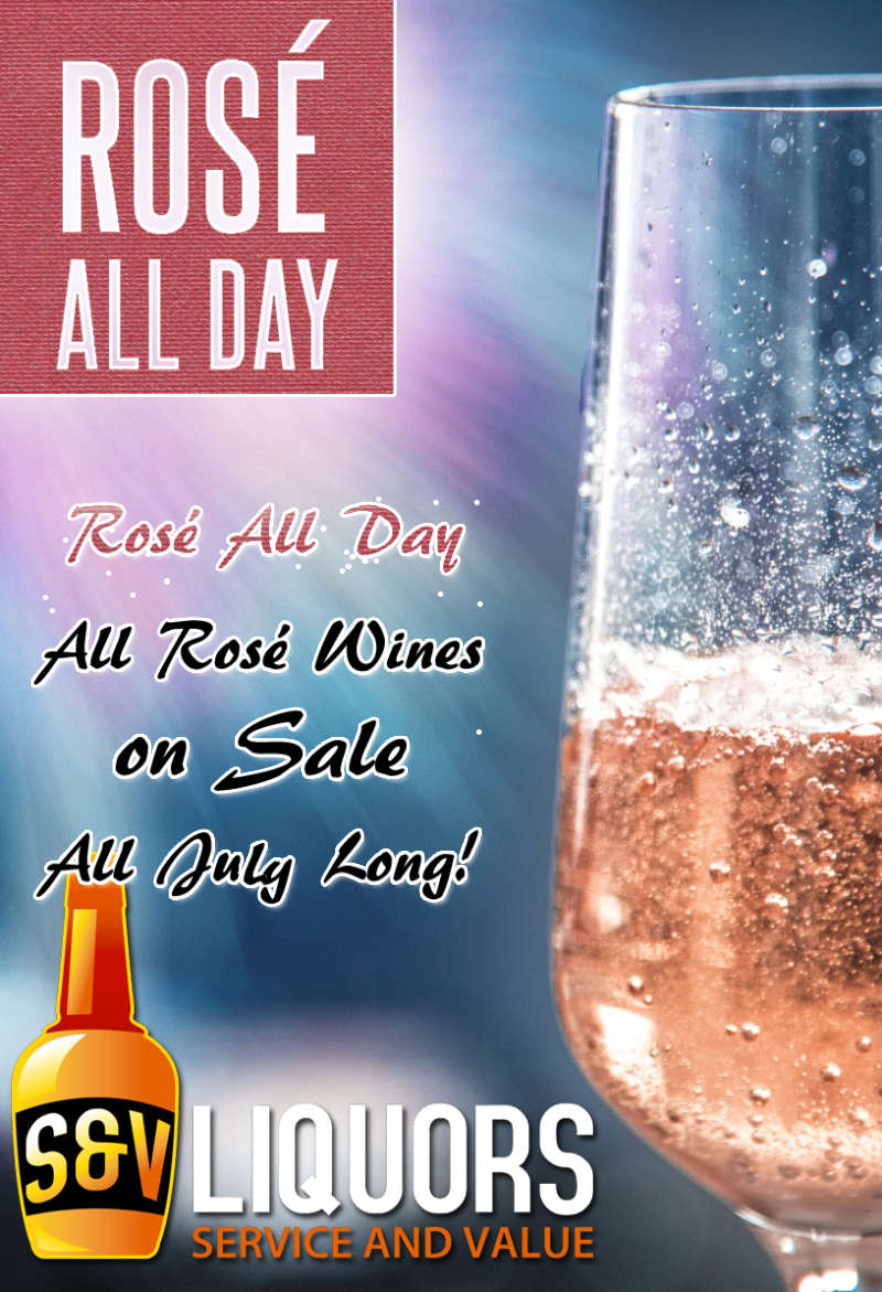Rosé All Day - July's Featured Wines at S&V Liquors