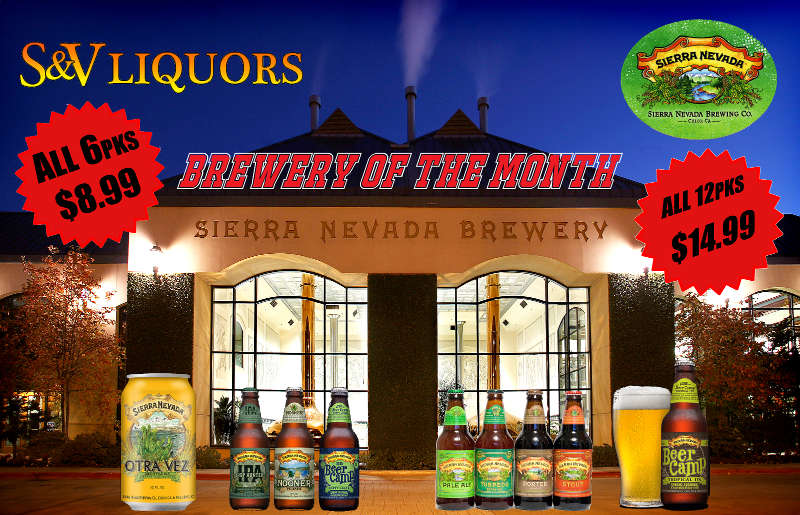Sierra Nevada Brewing - July's Featured Brewery at S&V Liquors