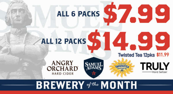 Boston Beer Co. - August's Featured Brewery at S&V Liquors