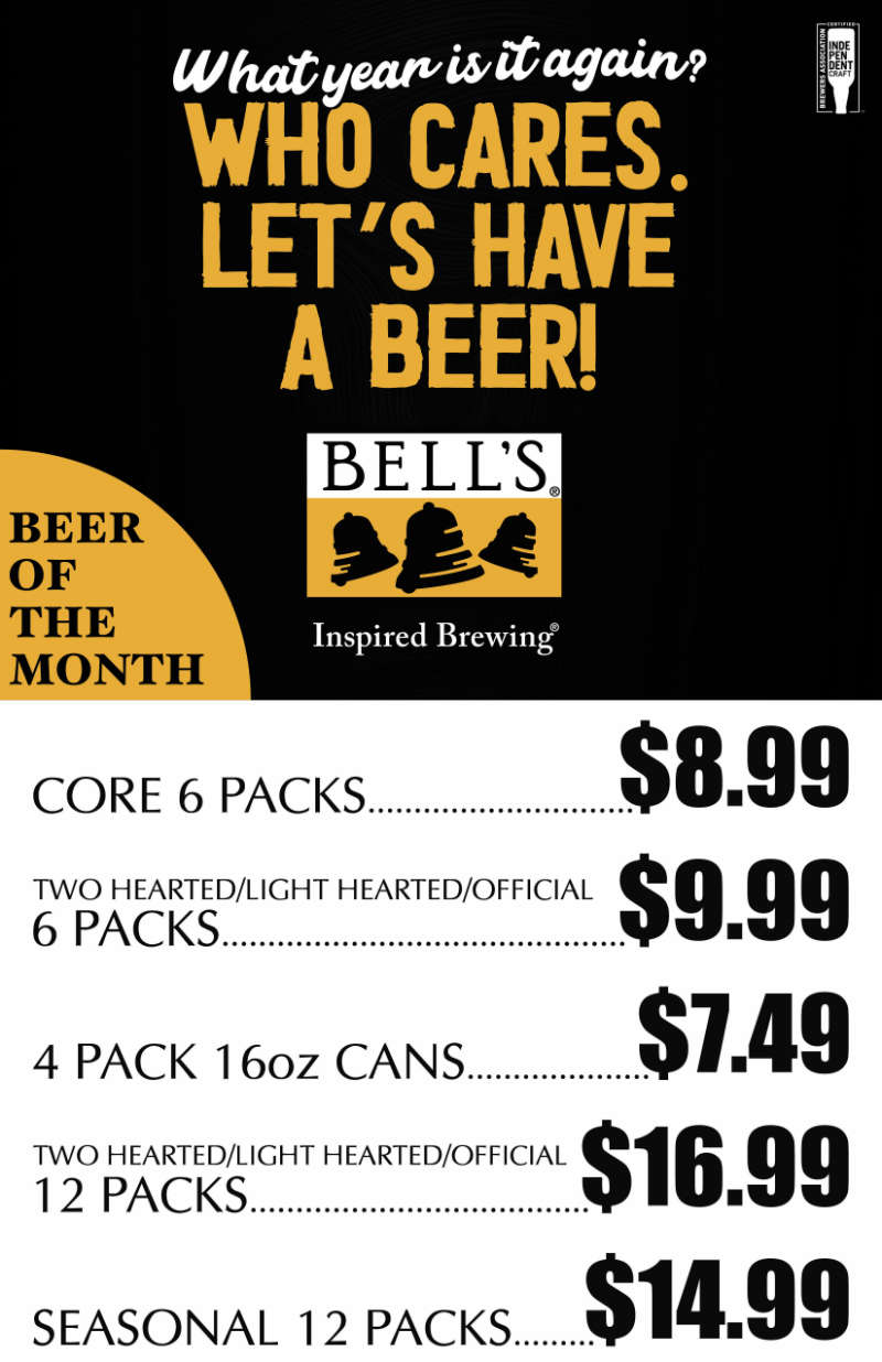 S&V Liquors Featured Brewery of the Month - September 2020 Bell's Brewing Co.