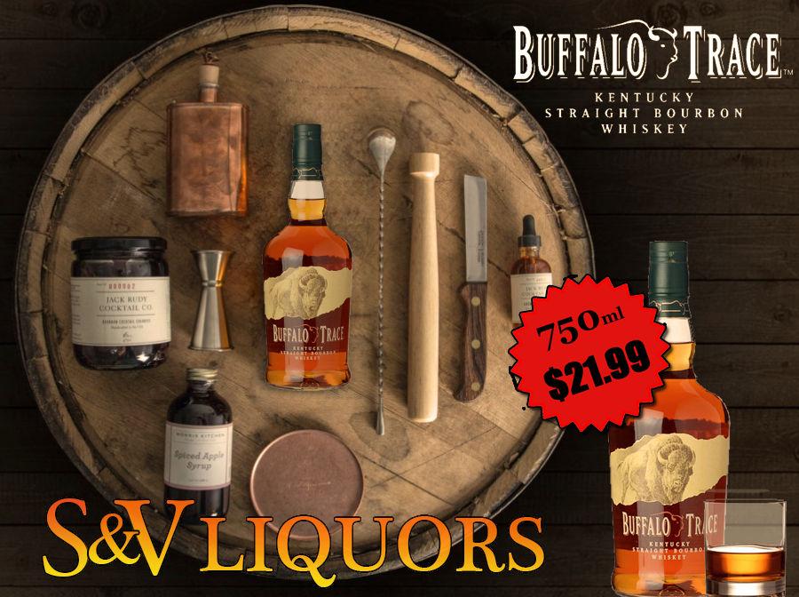 Fort Wayne's Featured Spirit of the Month at S&V Liquors! October 2020 Spirits Feature Buffalo Trace at all S&V Liquors stores across Fort Wayne, New Haven, Churubusco, Garrett, and Woodburn!